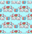 easter bunnies seamless pattern6 vector image vector image