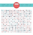 Emblems Logo 300 Flat Icons Collection vector image vector image