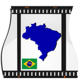 film shots brazil vector image