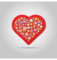 Flowers heart greeting card vector image vector image