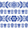 folk art seamless pattern with flowers vector image vector image