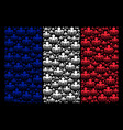 france flag mosaic of spectre octopus items vector image