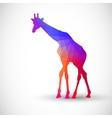 Geometric silhouettes animals Giraffe vector image vector image