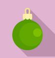 green ball xmas toy icon flat style vector image