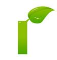 green eco letter i illiustration vector image