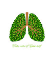 green leaves lungs vector image