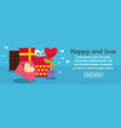 happy and love banner horizontal concept vector image