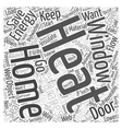 home energy saving tips Word Cloud Concept vector image vector image