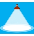 illuminated ceiling lamp vector image