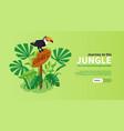 jungle isometric horizontal banner