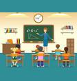 kids sitting in classroom vector image vector image