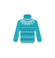 knitted sweater with high vector image vector image