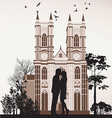 man kissing woman vector image vector image
