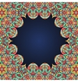 Mandala frame for text in oriental style vector image vector image