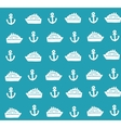 Marine seamless pattern with cute anchors and vector image vector image