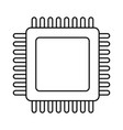 microchip technology symbol in black and white vector image vector image