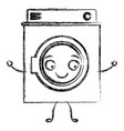 monochrome blurred cartoon silhouette of washing vector image vector image