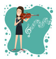 music festival live with woman playing violin vector image vector image