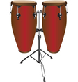 Pair of Conga Drums vector image