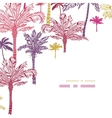 Palm trees seamless corner decor pattern vector image vector image