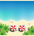 paradise beach top view square formatl vector image vector image