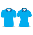 polo shirt men and woman outline vector image vector image