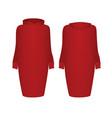 red hoodie dress vector image vector image