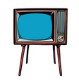 retro tv television news and programs vector image
