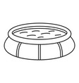 round inflatable pool icon outline style vector image