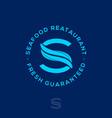 s monogram two eels seafood restaurant vector image