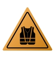 safety vest icon sign vector image