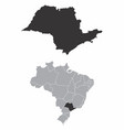 sao paulo state brazil vector image vector image