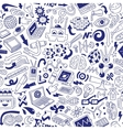 Science - seamless background vector image vector image
