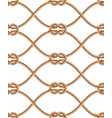 seamless pattern with brown twisted ropes vector image vector image