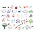 set eco doodles vector image vector image