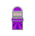 slot machine with lucky symbol 777 winner sign vector image vector image