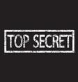 stamp text top secret vector image vector image