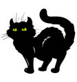 standing cat silhouette vector image