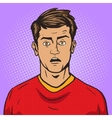 Surprised man pop art style vector image vector image