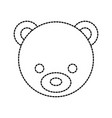 teddy bear head cute animal toy vector image
