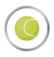 Tennis ball icon in cartoon style for web vector image