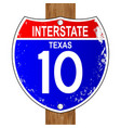 texas interstate sign vector image vector image