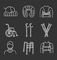 trauma treatment chalk icons set vector image vector image