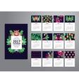 Tropical printable calendar 2017 vector image vector image