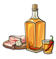ukrainian vodka with chilly pepper vector image vector image