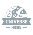 universe future logo simple gray style vector image vector image