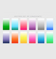 vibrant set of colorful gradients vector image vector image