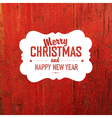 Vintage Christmas Label On Red Texture vector image vector image