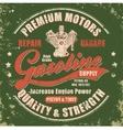 Vintage gasoline retro label vector image vector image