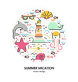 summer holidays concept vector image